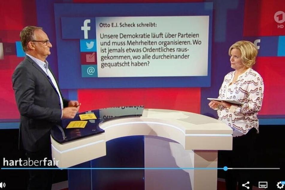 """Bei """"hart aber fair"""" gibt's immer montags die """"Aufreger"""" der Woche - diesmal traf es eine SPD-Politikerin. Sie wird auf Twitter durch """"ihren"""" Spar-Kakao gezogen."""