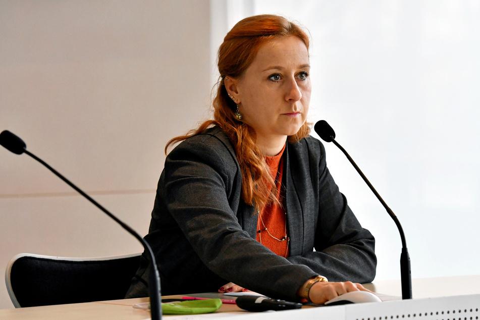 Franziska Schubert (38), Fraktionschefin der Grünen im Landtag, ist für eine Weiterführung der Impfzentren in Sachsen.
