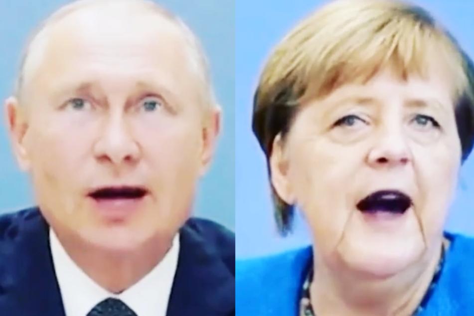 """In dem neuen Instagram-Video von Dieter Bohlen singen Angela Merkel und Wladimir Putin den Hit """"You're My Heart, You're My Soul""""."""