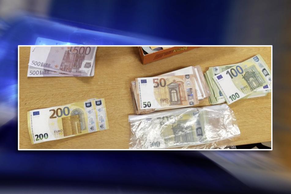 Die gefälschten Geldscheine ergaben eine Summe von mehr als 30.000 Euro.