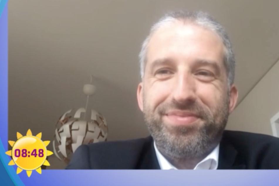 Palmer im Sat1-Frühstücksfernsehen. Dort fiel der Satz, wegen dem er in der Kritik steht. (Screenshot)