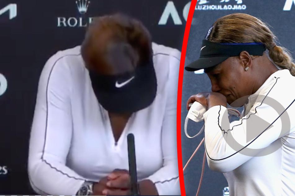 Bei PK nach Australian Open: Hier bricht Serena Williams in Tränen aus und flüchtet!