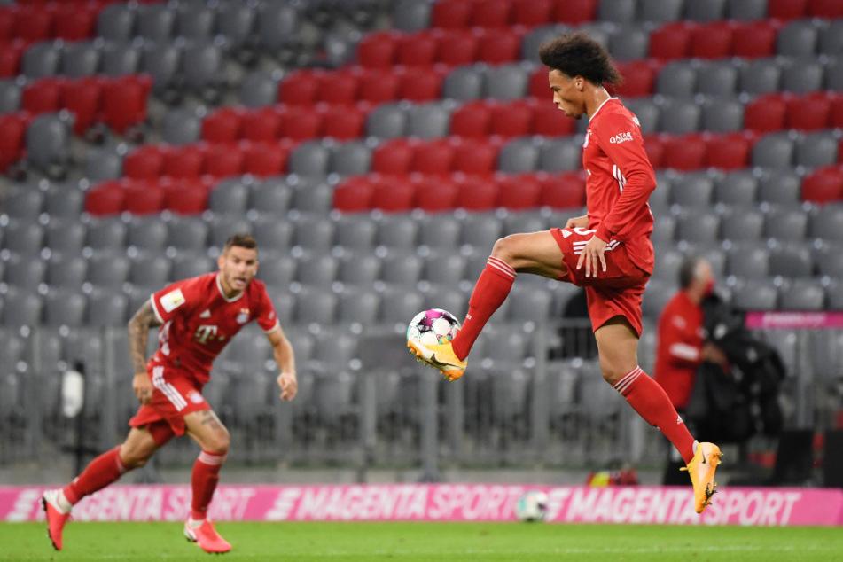 Leroy Sané gab sein Debüt für den FC Bayern München.