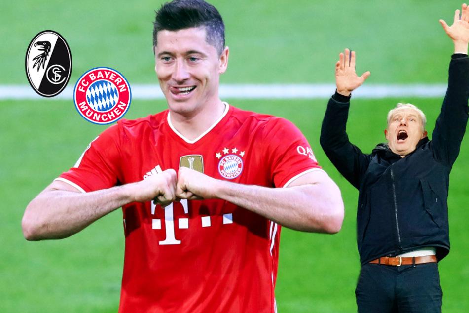 """Freiburg-Coach Streich hat Angst, dass Lewandowski den Rekord seines """"Heros"""" knackt"""
