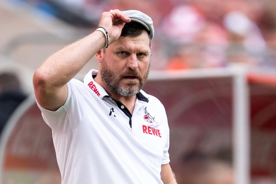 Kölns Trainer Steffen Baumgart (49) ist vor dem Spiel gegen Eintracht Frankfurt am Samstag zuversichtlich.