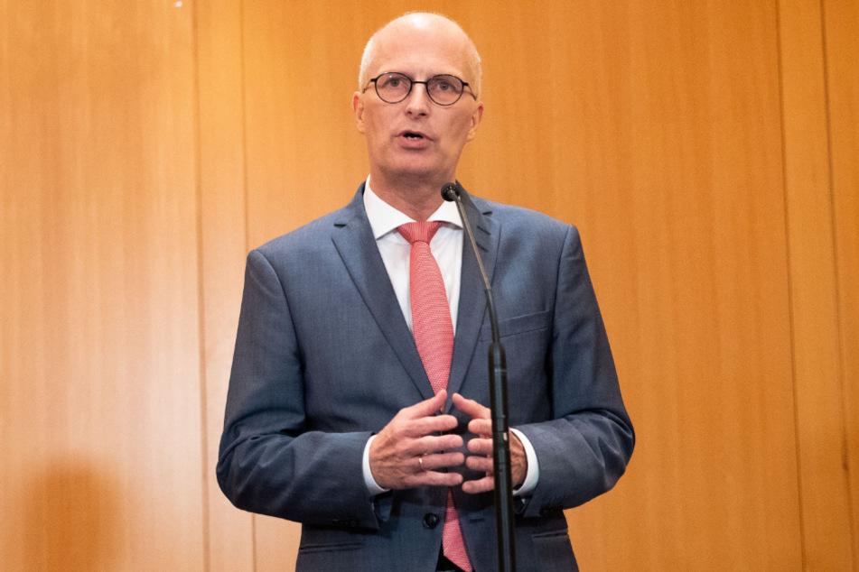 Hamburgs Regierungschef Peter Tschentscher (SPD) vor gut einer Woche in Hamburg.