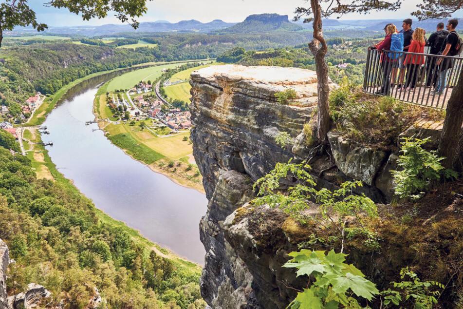 Das Elbtal in der Sächsischen Schweiz gehörte 2020 zu den Tourismuslieblingen bei deutschen Urlaubern.