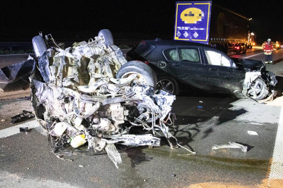 Der Unfall auf der Autobahn 9 hat schreckliche Folgen.