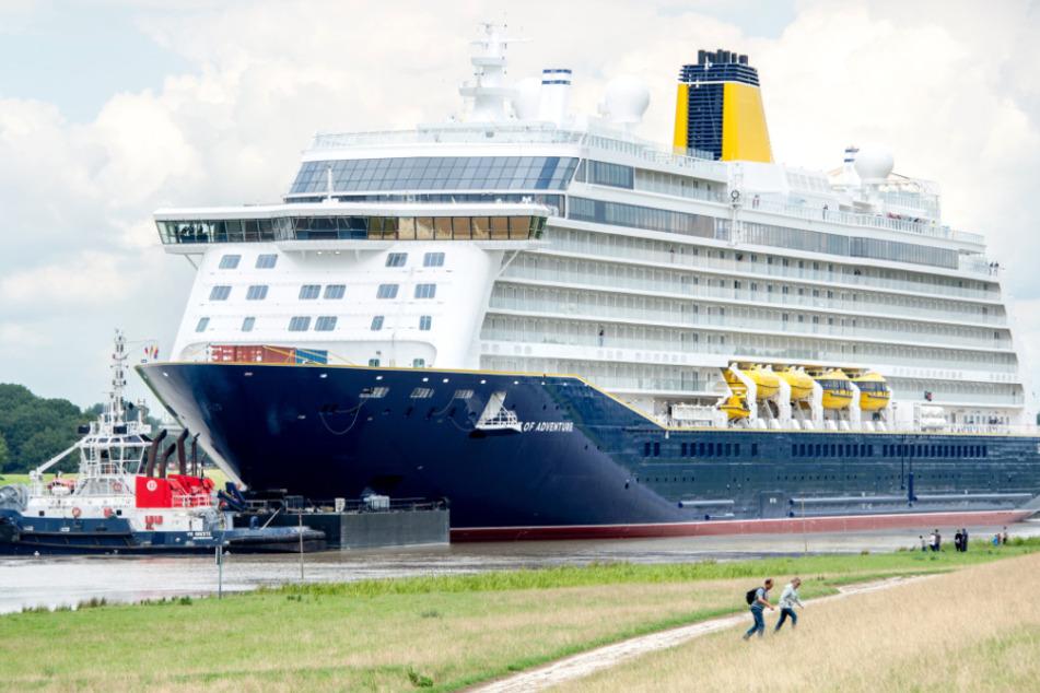 """Kreuzfahrtschiff """"Spirit of Adventure"""" verlässt klammheimlich die Werft"""