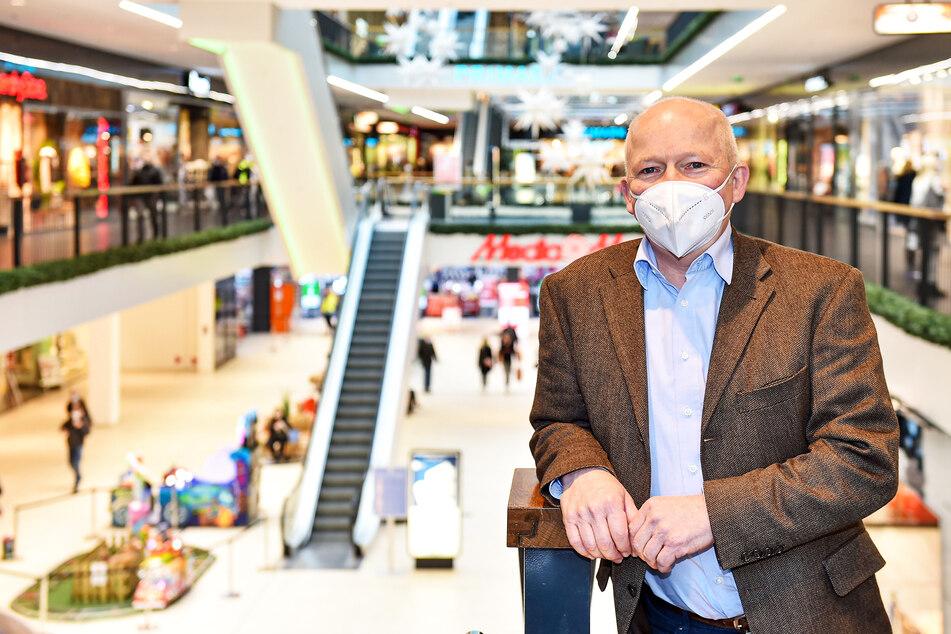 Jürgen Wolf (59), Manager der Centrum Galerie, bemerkt einen leichten Zuwachs an tschechischen Kunden.