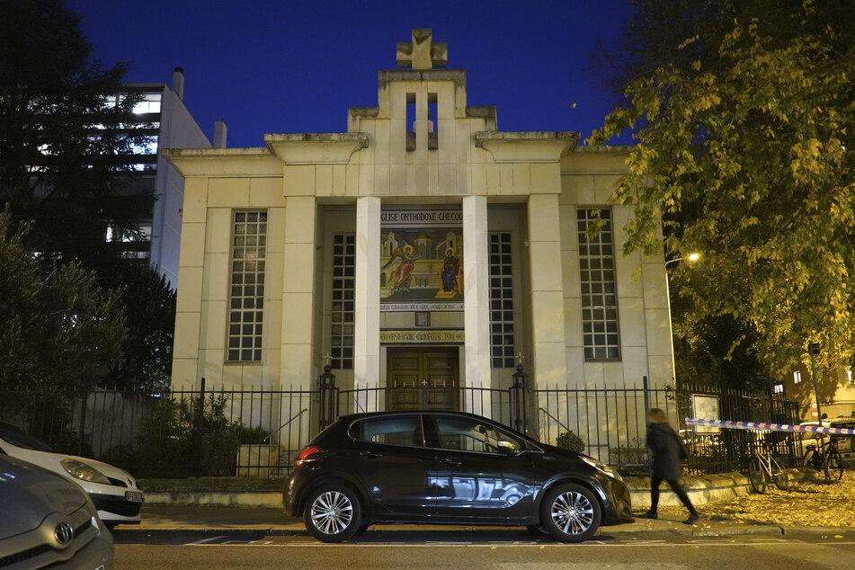 Eine Kirche in Lyon, an der ein griechisch-orthodoxer Priester von einem mutmaßlichen Terroristen angeschossen wurde.