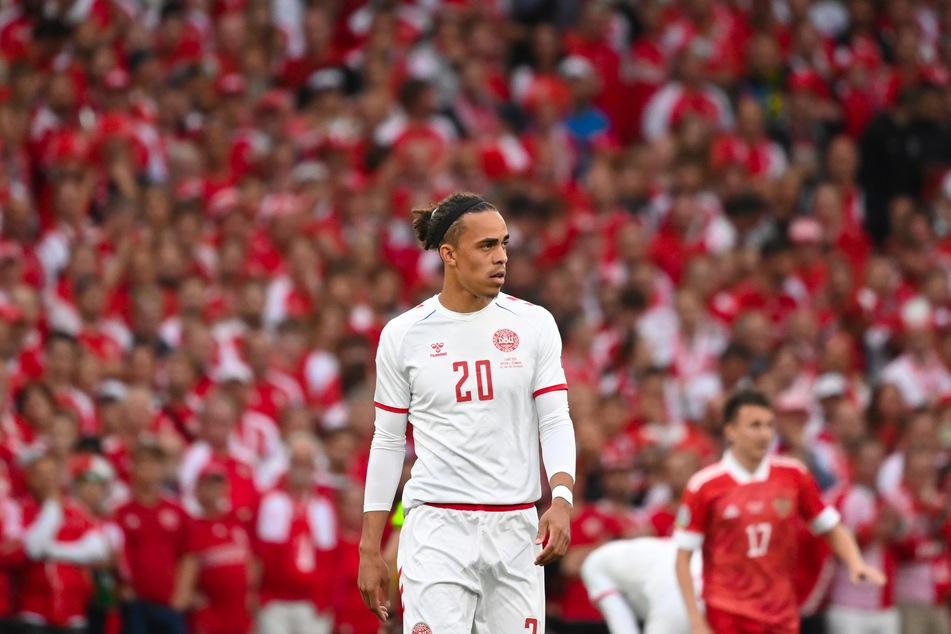 Dänemarks Achtelfinal-Hoffnungen ruhten auch auf RB Leipzigs Stürmer Yussuf Poulsen.