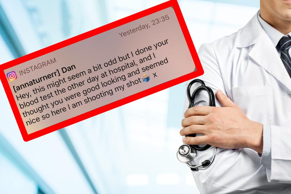 Frau nach Blutabnahme von Mediziner auf Instagram angegraben