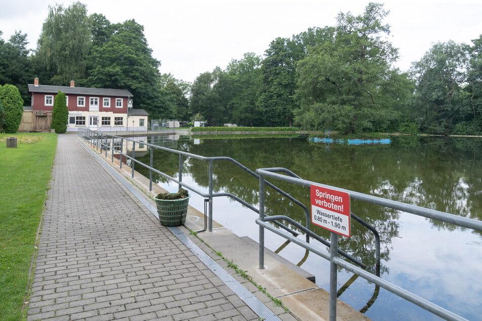 Das Marienbad Weißig wird als offene Badestelle betrieben.