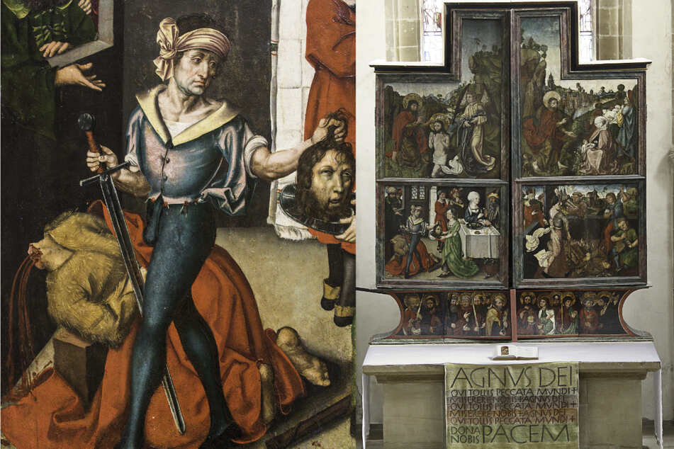 Auf einem Tafelbild des spätgotischen Flügelaltars in der evangelischen Johanneskirche in Crailsheim ist eine Henkerszene zu sehen. Experten vermuten, dass Teile des Bildes von dem Nürnberger Meister Albrecht Dürer gemalt wurden.