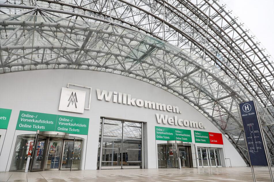 Das wohl größte Impfzentrum in Sachsen entsteht neben der Messe Leipzig.