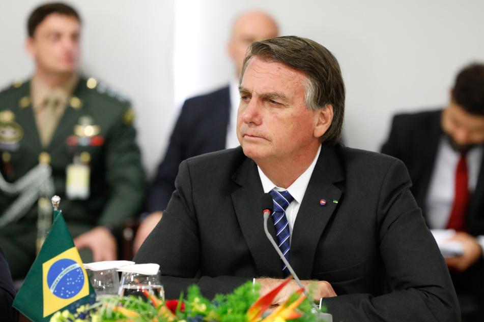 Auf diesem vom brasilianischen Präsidentenamt zur Verfügung gestellten Bild nimmt Jair Bolsonaro (66), Präsident von Brasilien, an einer offiziellen Sitzung teil.