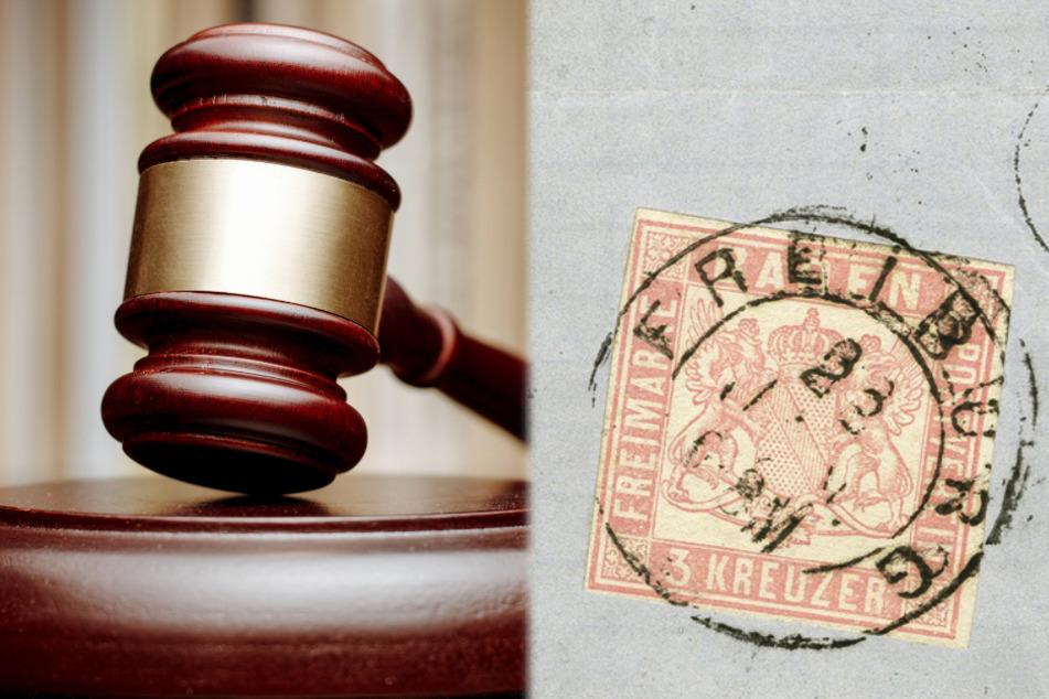 """Die Briefmarke """"Stockach Provisorium"""" soll Ende Juni in Wiesbaden bei einer Auktion versteigert werden."""