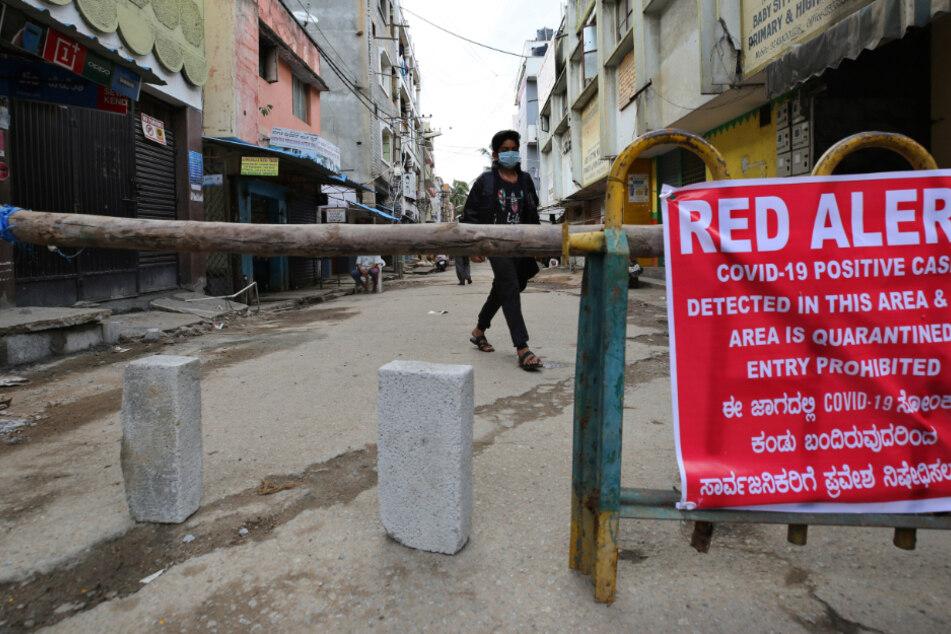 Die Zahl der Coronafälle in Indien steigen weiter an.