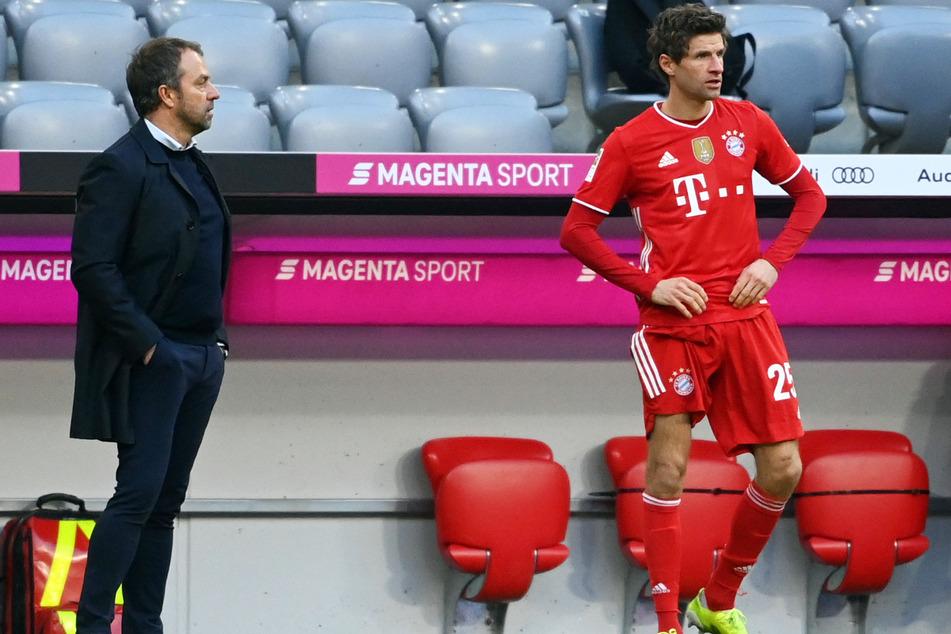 Thomas Müller (31, r.) vom FC Bayern München legte gegen den 1. FC Köln nach seiner Rückkehr auf den Rasen einen Treffer vor.
