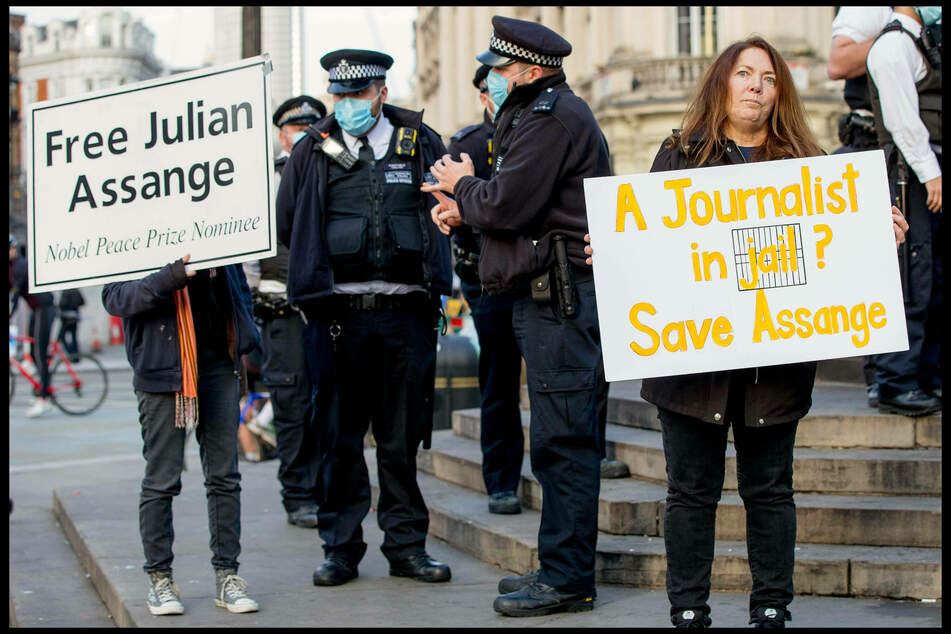 London protesters advocated for Julian Assange's release in November.