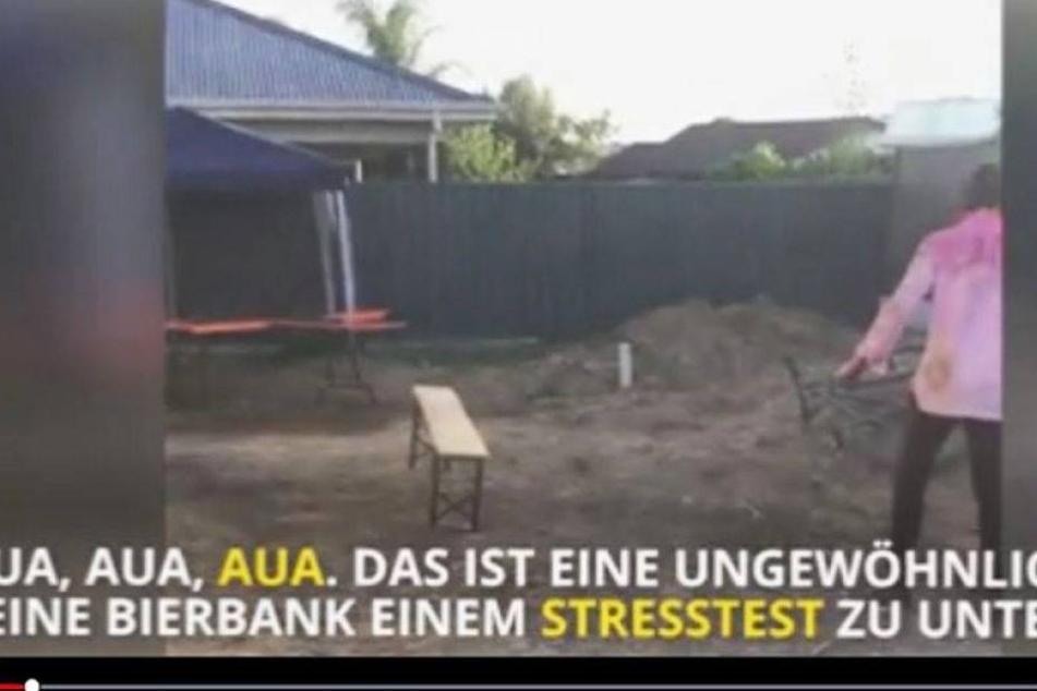 Mann vs. Holzbank - Wer gewinnt?