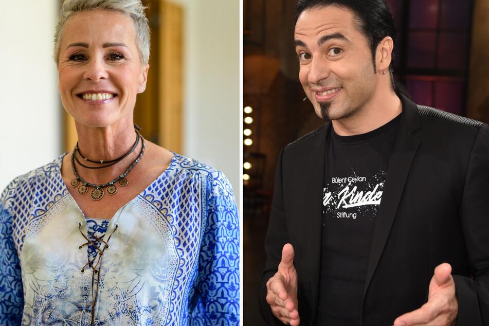 """Im Rate-Team bei """"The Masked Singer"""" sitzen in der neuen Staffel Moderatorin Sonja Zietlow (52) und Komiker Bülent Ceylan (44)."""
