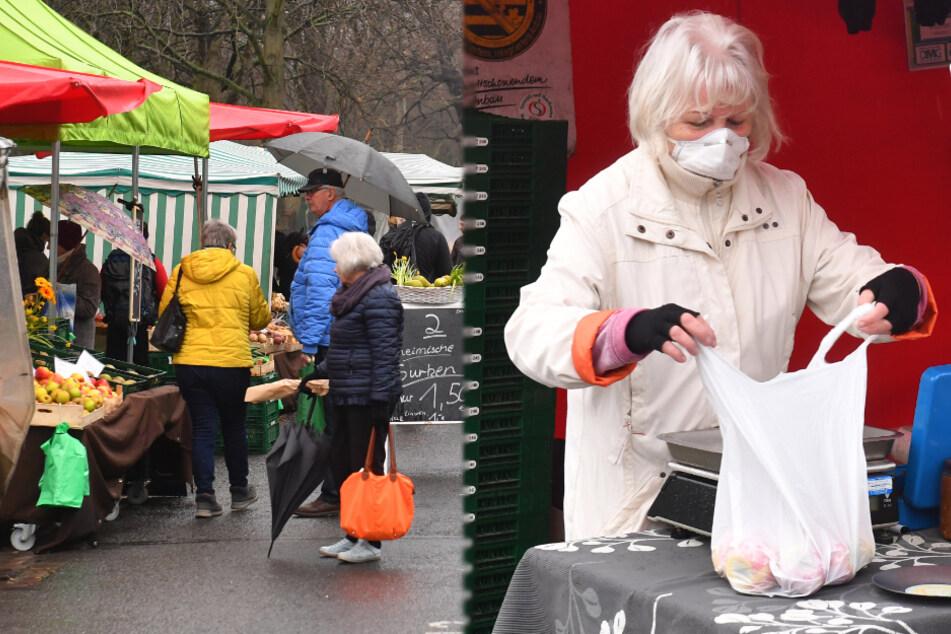 Dresden: Für Käse, Keramik und Klopapier:Hier steht Dresden auf dem Lingnermarkt Schlange