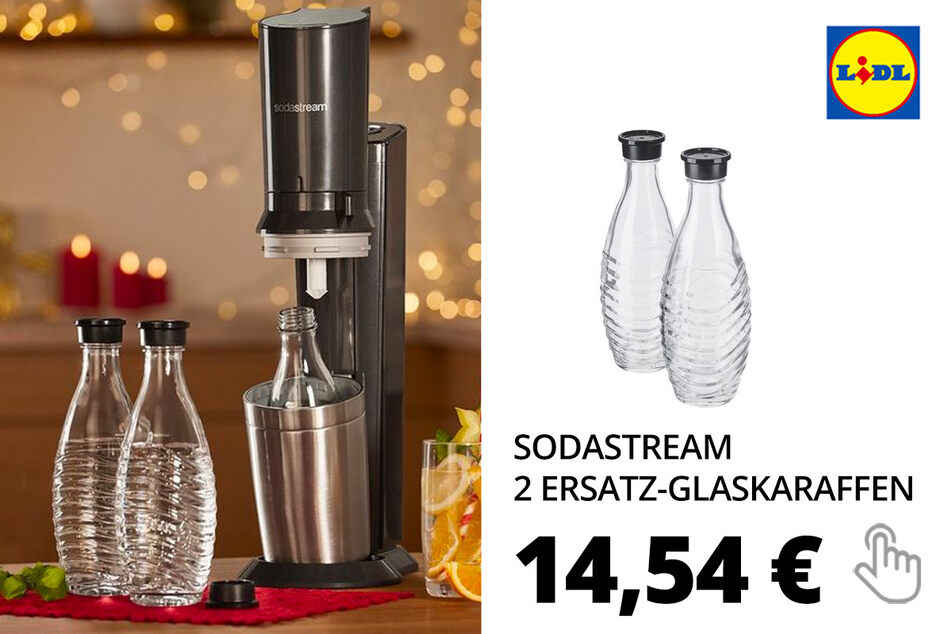 Sodastream 2 Ersatz-Glaskaraffen