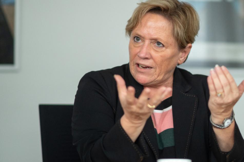 Baden-Württembergs Kultusministerin Susanne Eisenmann (56, CDU) bei einem Interview.