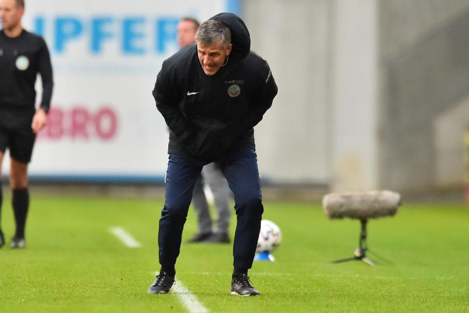 Hansa-Coach Jens Härtel (51) konnte nicht fassen, was Dynamo alles wegverteidigte.