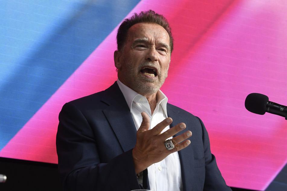 Arnold Schwarzenegger (74) sprach sich für neue Technologien aus, um den Klimawandel zu bremsen.