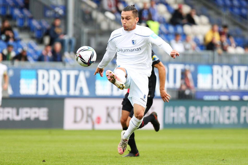 Acht Scorerpunkte nach sechs Spielen: Baris Atik (26) bringt seine Fähigkeiten beim 1. FC Magdeburg weiterhin gewinnbringend ein.