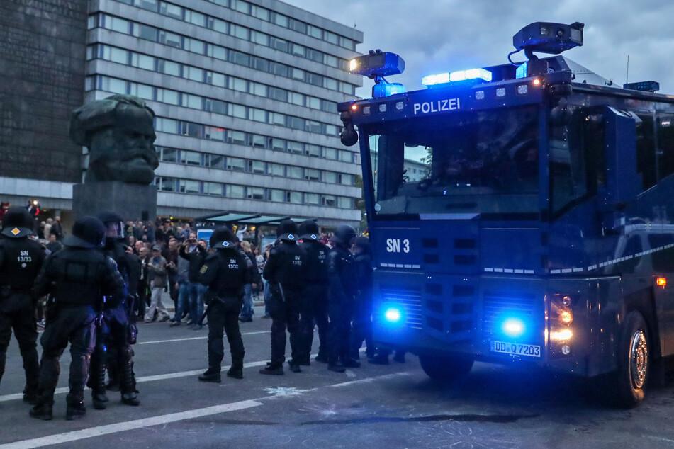 Im August 2018 kam es zu rechten Demonstrationen im Chemnitzer Zentrum.