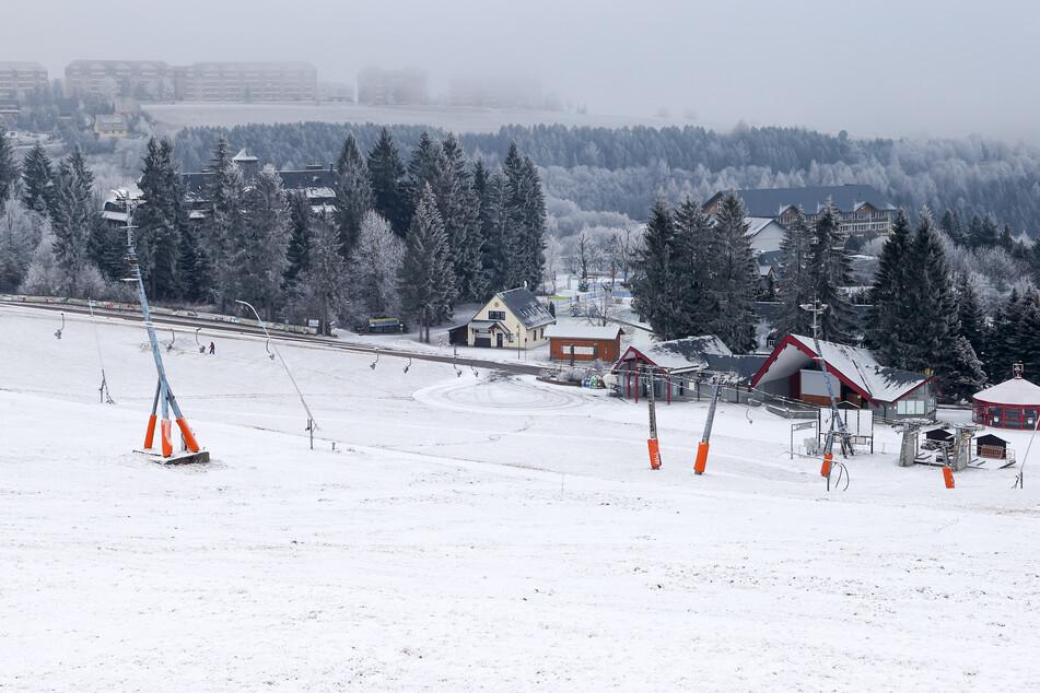 Ein Skihang am Fichtelberg.