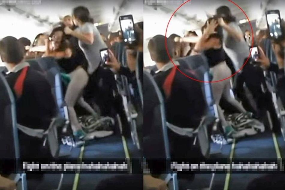 Musik zu laut: Wilde Frauenschlägerei in Flugzeug