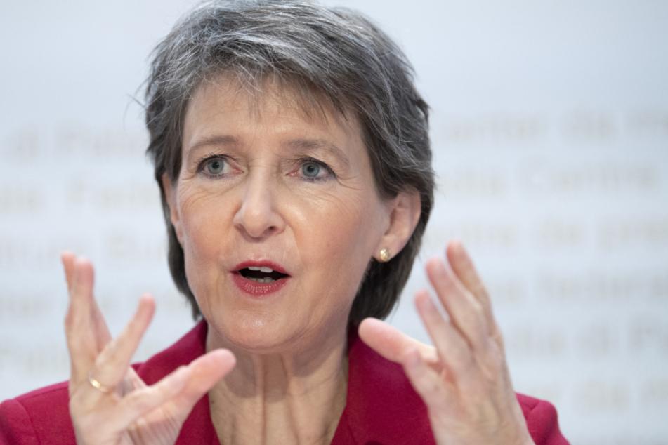Simonetta Sommaruga (60), Bundespräsidentin der Schweiz.