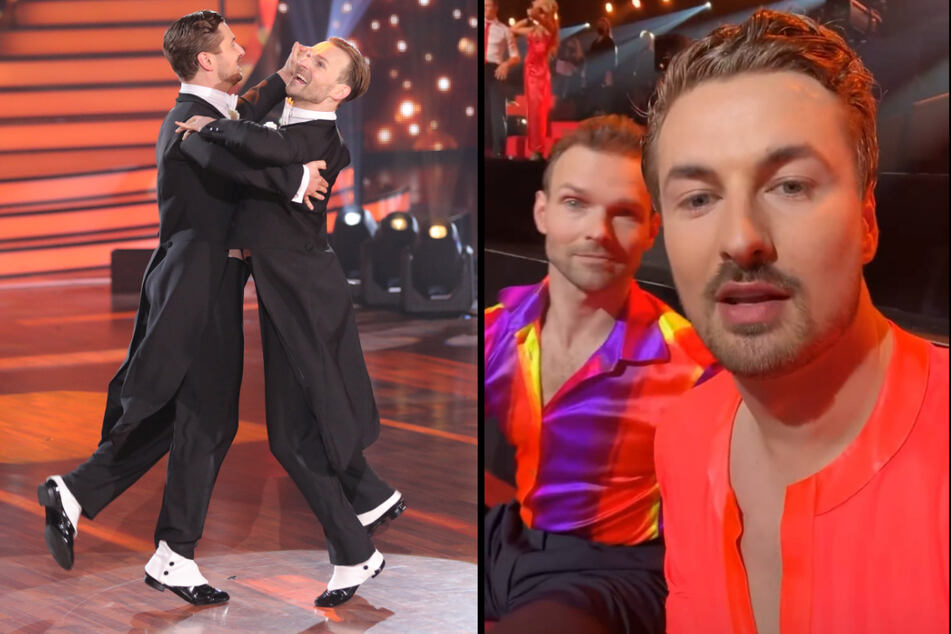 """Während der """"Let's Dance""""-Show waren Nicolas Puschmann (30) und Vadim Garbuzov (33) noch guter Dinge... (Fotomontage)"""
