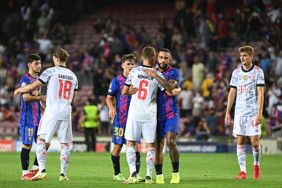 Die Barca-Spieler können den Münchnern nur noch gratulieren. Spielerisch hatte der Tabellenzweite der Bundesliga wenig Mühe.