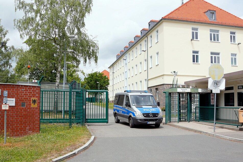 Im Chemnitzer Asylheim kam es am Montagabend zu einem Polizeieinsatz.
