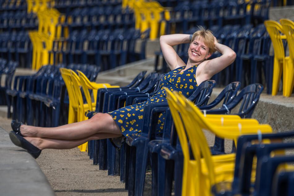 Filmnächte-Sprecherin Viktoria Franke (33) hat gut lachen: Die Filmnächte werden verlängert.