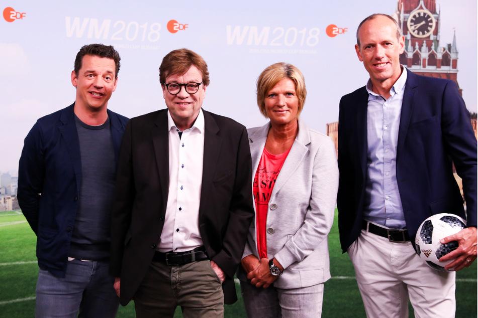 Als öffentliche Personen werden Oliver Schmidt (49, l.-r.), Bela Rethy (64), Claudia Neumann (57) und Martin Schneider (54) immer wieder kritisiert.