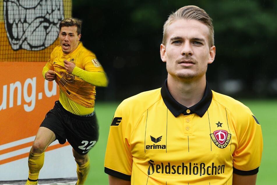 Sinan Tekerci (27, l.) und Luca Dürholtz (27.) spielten zwei Jahre gemeinsam bei Dynamo Dresden, nun befinden sie sich bereits in ihrer dritten gemeinsamen Saison bei der SV 07 Elversberg.