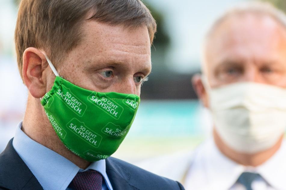 """Michael Kretschmer (45, CDU) besuchte unlängst """"Corona""""-Gegner in Dresden. Einer von ihnen ist heute dabei."""