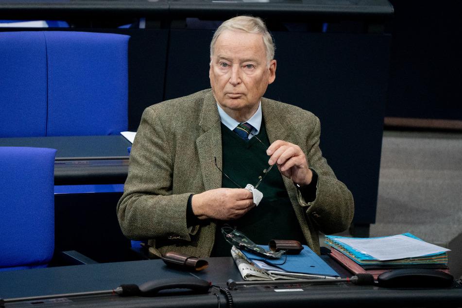 Alexander Gauland (79) im Deutschen Bundestag. Er glaubt nicht, dass die LKR eine ernstzunehmende Bedrohung für die AfD darstellt.