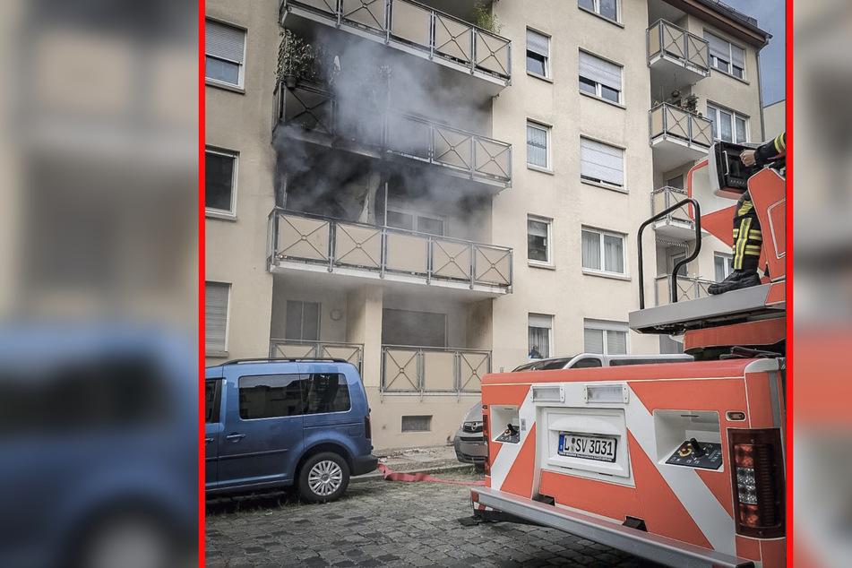 Leipzig: Gaskocher explodiert: Drei Personen bei Balkonbrand in Leipzig verletzt