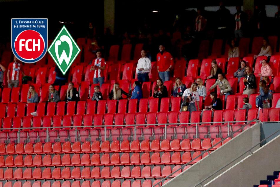Spielerfrauen auf der Tribüne! Woher kamen die Zuschauer bei Heidenheim gegen Bremen?