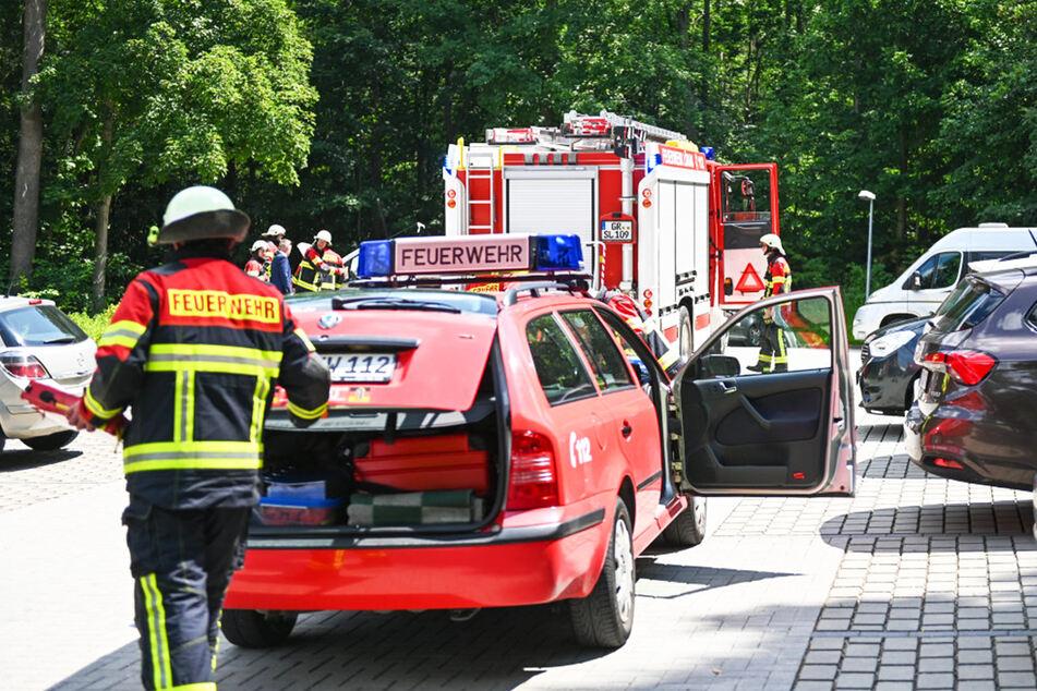 Die Feuerwehrleute klemmten die Batterie des Nissan ab und kontrollierten auf Glutnester, mehr war nicht nötig.