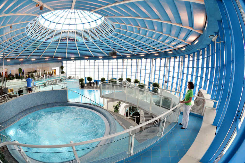 Blick in eine Therme.