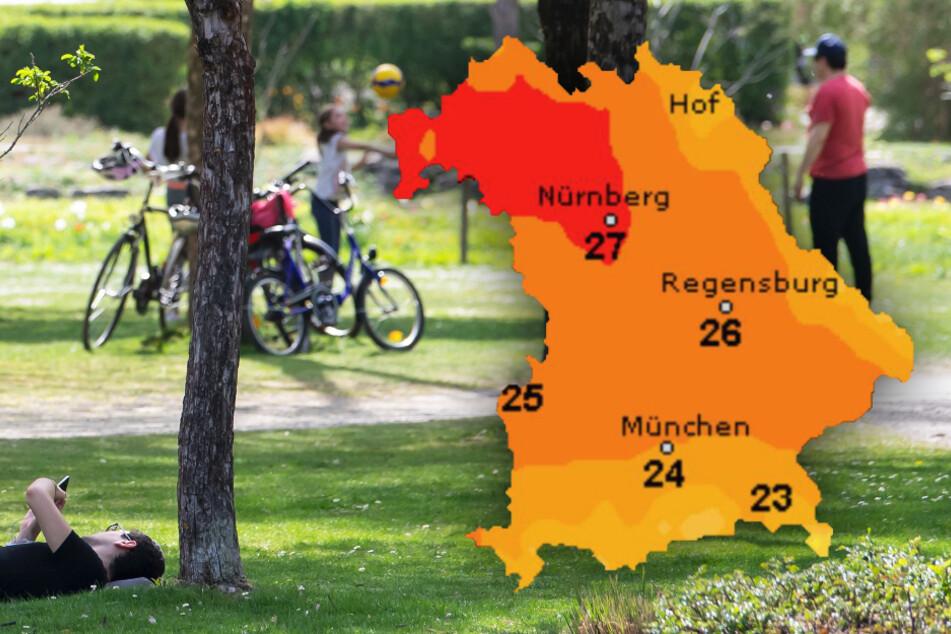 Sonne und bis zu 30 Grad! So wird das Wetter diese Woche in Bayern